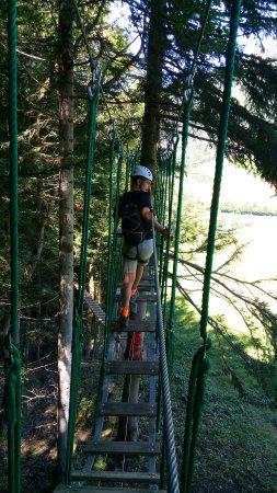Aillon-le-Jeune, Frankrig: Cascade de Tyroliennes