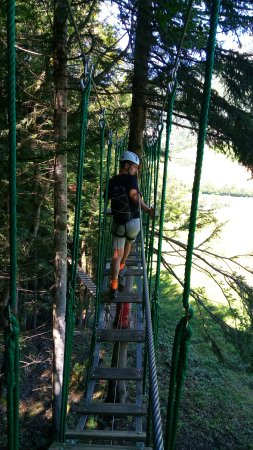 Aillon-le-Jeune, Fransa: Cascade de Tyroliennes