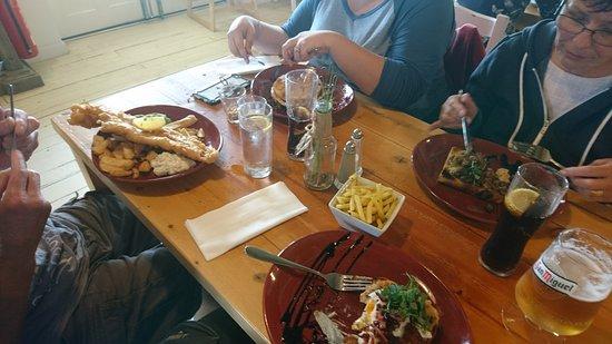 Trearddur Bay, UK: Lunch!