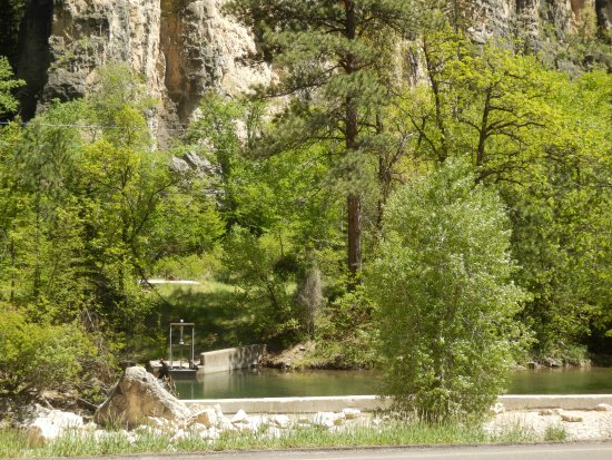 Limestone Cliffs and Trout Streams of Spearfish Canyon