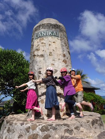 Segway of Hawaii- Kailua: セグウェイを降りて記念撮影