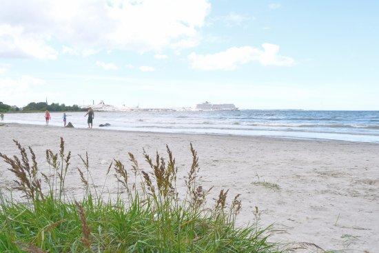 Pirita : Small beach close to Kadriorg Park