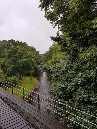 Pickering, UK: Crossing a bridge just outside Grosmont on the way to Whitby