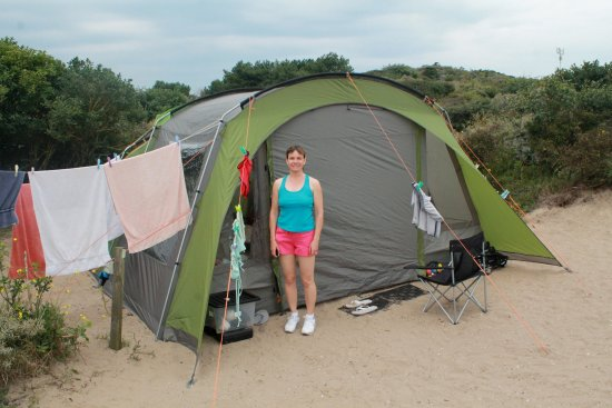 Bloemendaal, Nederland: Our tent on the Dunespot