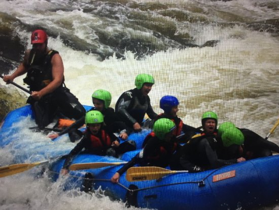 Aberfeldy, UK: The last of the rapids, nearly home!