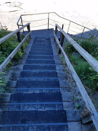 Pelican Shores Inn : Stairs to the beach