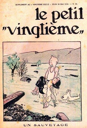 Musée Hergé : Wekelijkse jeugdbijlage bij het dagblad