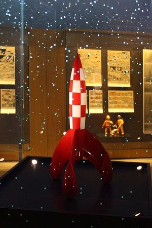 Musée Hergé : Raket naar de maan