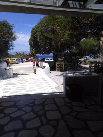 Kastraki, Grekland: vista dal nostro tavolo
