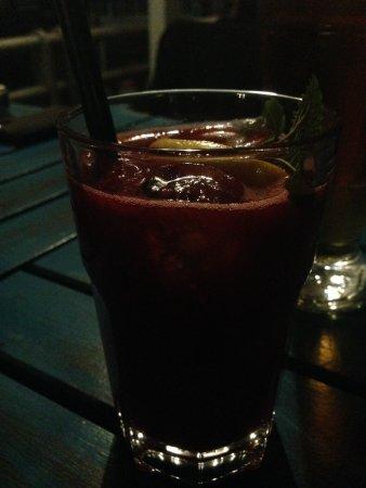 limonada casera de frambuesa