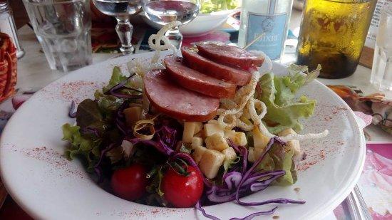 Le Frasnois, Frankrike: salade comtoise