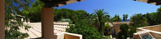 Pueblo Menorquin: Panorama uitzicht van ons slaapkamerterras (Nr.31)
