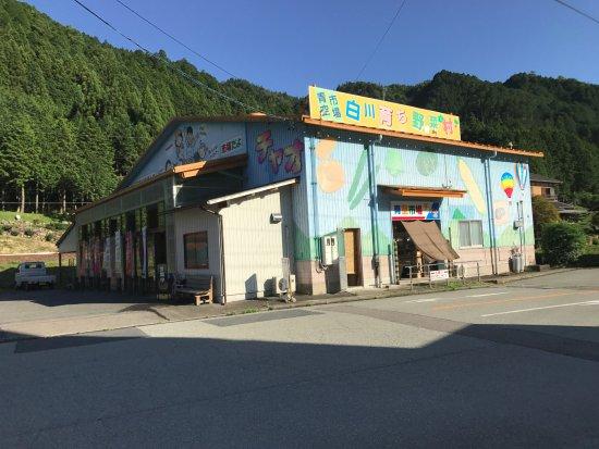 Shirakawa-cho, Japan: 道の駅美濃白川にて、野菜村チャオ。