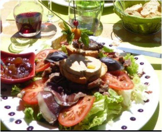 Lauzerte, Frankrijk: assiette quercynoise