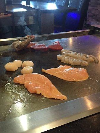 Fuda: Emperors Meal for 2. Filet mignon, lobster tail, shrimp, & scallops