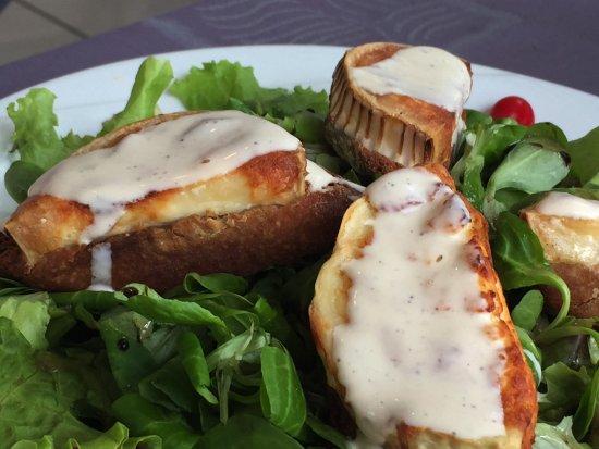 Vic-en-Bigorre, Франция: Salade fromage de chèvre