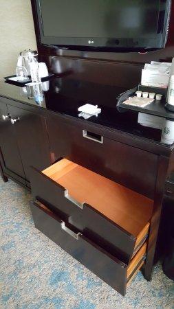 The Westin Huntsville: Broken drawer