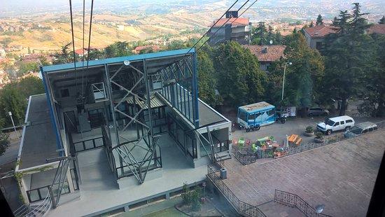Borgo Maggiore, San Marino: Down station