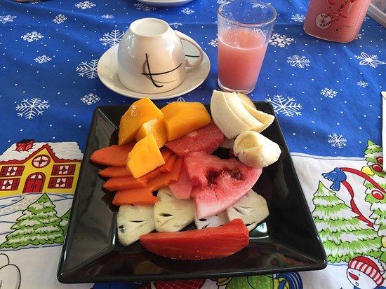 La Casa del Chef (Rolando y Marisol): La salade fruits du petit-déjeuner