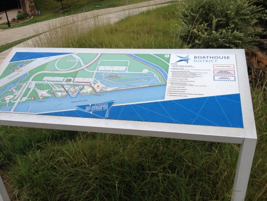 Centennial Land Run Monument : This is a map of the area to be seen, the Boat District is here, too. It's just across the River