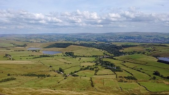 Barley, UK: View from Pendle Hill