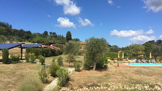 Casciana Terme, Italy: Vista dal balconcino e vista piscina