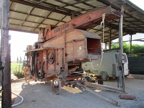 Agriturismo Al Vermigliano: Storico macchinario agricolo, tuttora funzionante