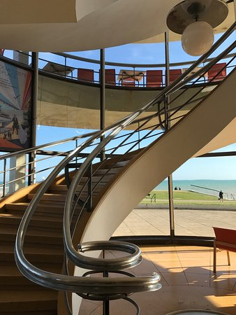 Bexhill-on-Sea, UK: the great spiral staircase at the pavilion