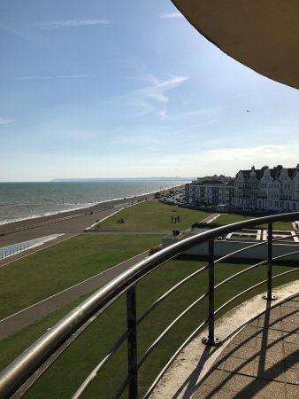 Bexhill-on-Sea, UK: looking out from the pavilion