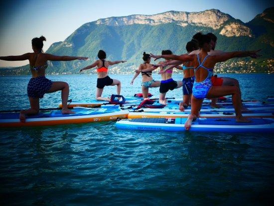 Sevrier, France: Des cours de Pilates et de Fitness Paddle !