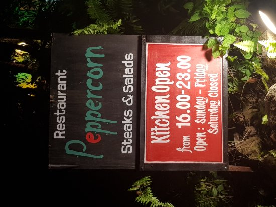 Peppercorn : Orari... timetable