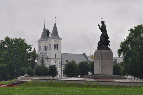 "Monument ""United for Latvia"": В дождливый день..."