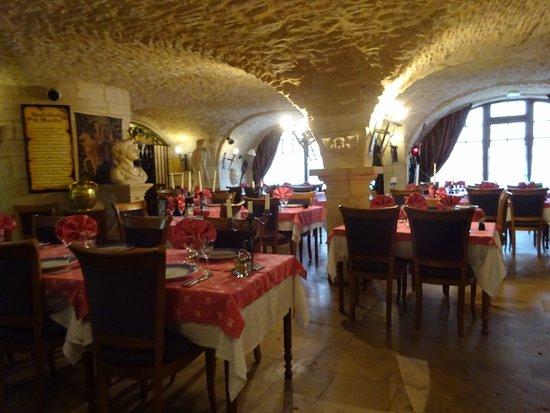 Hostellerie Saint Martin : La salle à manger .