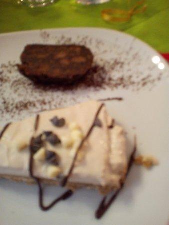 Agriturismo Il Corvo Reale : salame al cioccolato e torta al caffè