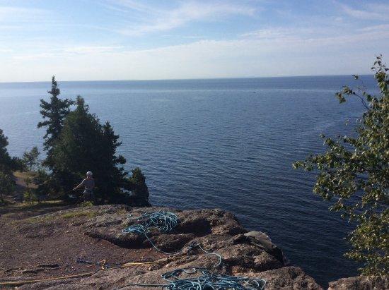 Silver Bay, MN: Rock Climbers