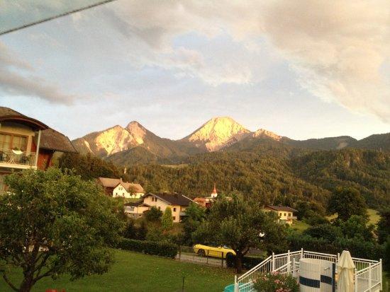 Oberaichwald, Avusturya: Blick aus unserem Appartement