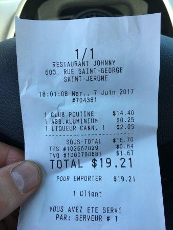 Restaurant Chez Johnny : 25 sous la cup .. ha bon