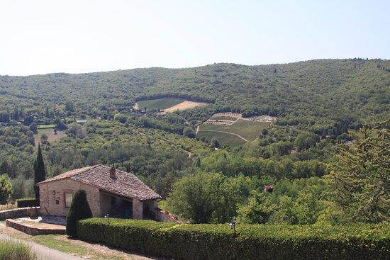 Gaiole in Chianti, Italien: uitzicht vanaf het kasteel