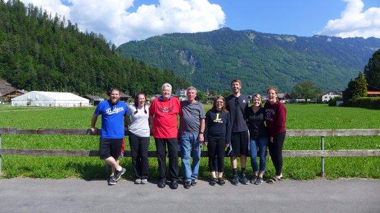 """Matten bei Interlaken, Switzerland: Our group with """"Uncle Erich"""""""