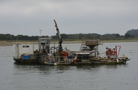 Exmouth, UK: One of the working Mussel Boats.