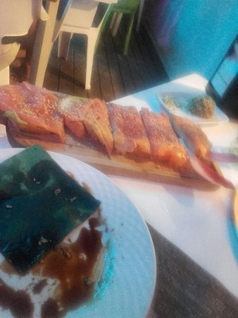 Benajarafe, Spanyol: toasts avocat/saumon