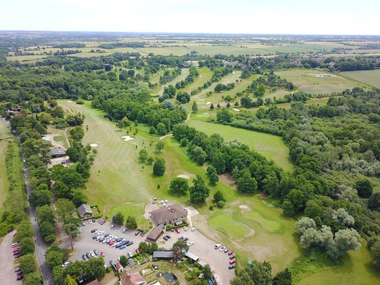 Stowmarket, UK : July 2017 Aerial view of the course