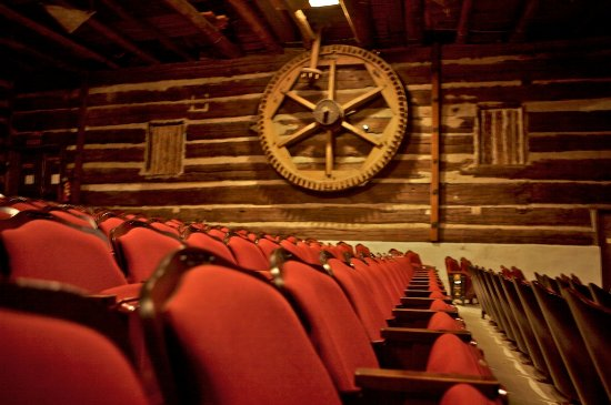 Jennerstown, PA: the interior of the theater - featuring a piece of the original gristmill