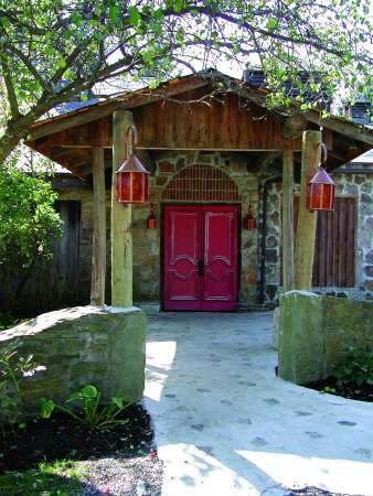 Jennerstown, PA: the main entrance to The Mountain Playhouse