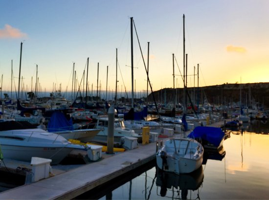 DANA POINT HARBOR, CA, ⛵️at 🌅!