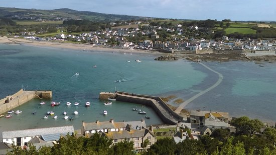 Marazion, UK: view from the castle battlements