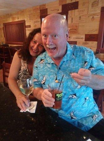 Hernando Beach, FL: Eating/Drinking my custom Bloody Mary!