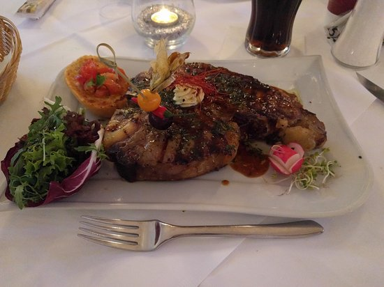 Burgau, Germany: A great super sized steak!
