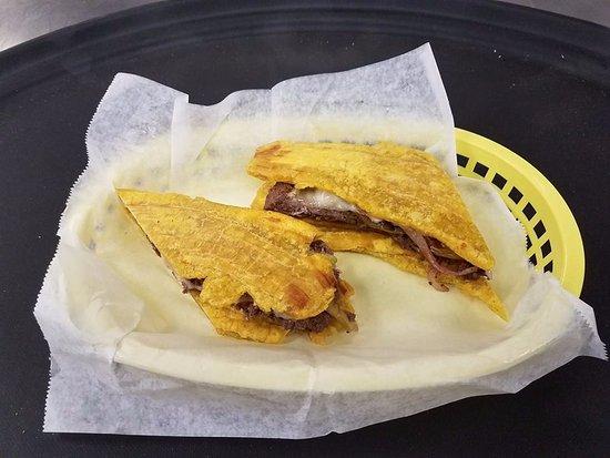 Morristown, TN: Jibarito sandwich (plantain sandwich).