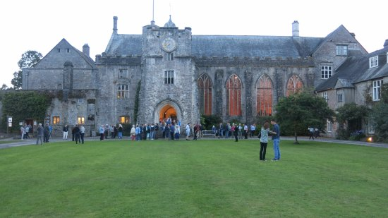 Dartington, UK: The Great Hall during the concert interval.